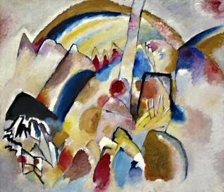 Kandinsky - Landschaft mit roten Flecken, Nr. 2