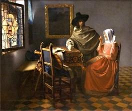 Vermeer - Herr und Dame beim Wein
