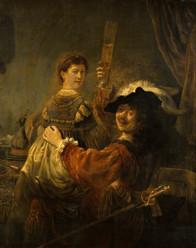 Rembrandt - Selbstbildnis mit Saskia