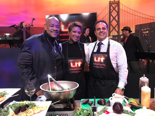 "CEO Jeannine Gant serves as Guest Chef on Tonight's ""LIT With Chuck Bennet & Chef Bobby"
