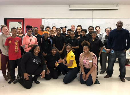 Jamaican Olympic Gold Medalist Aleen Bailey Makes Surprise Visit to Marcus Garvey Academy