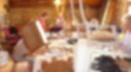 mise en pratique  lors d'un stage de tapisserie d'ameublement