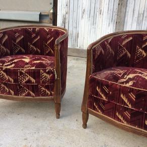 paire de fauteuils tonneau à vendre