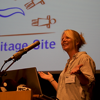 Rachel speaking at Whale Heritage Sites