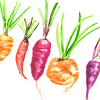 Wonky Watercolour Vegetables
