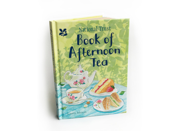 National Trust Book of Afternoon Tea, Food illustration, Watercolour and digital illustration, textures, Jenny Daymond Design and Illustration