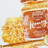 Sepia Food Illustration