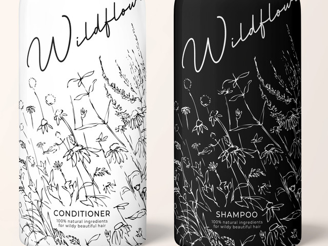 Shampoo Luxury Consmetics Packaging Design