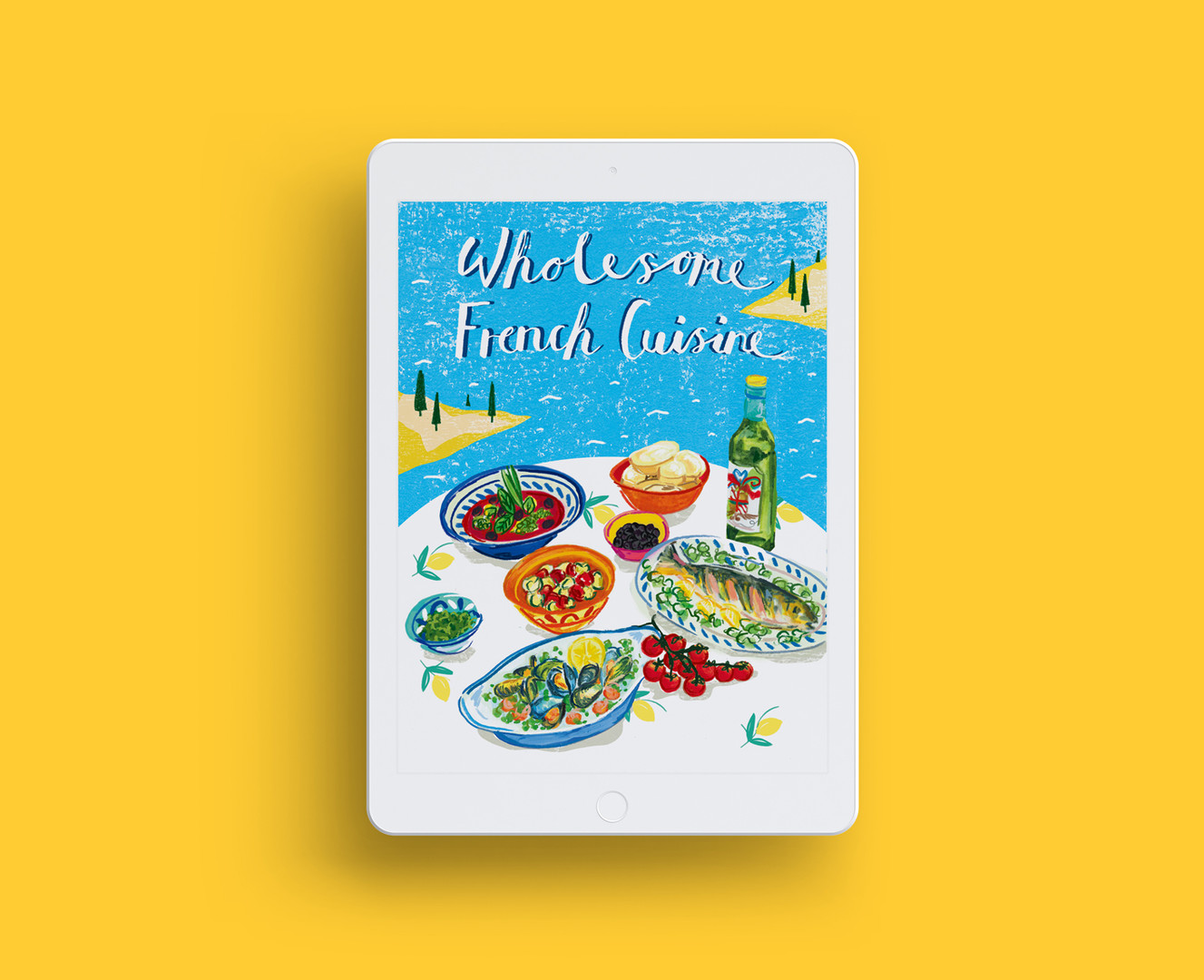 cook book cover design and illustration, hand typography, print making, textures, painterly, watercolour illustration, food illustration, food editorial, Jenny Daymond Design and Illustration