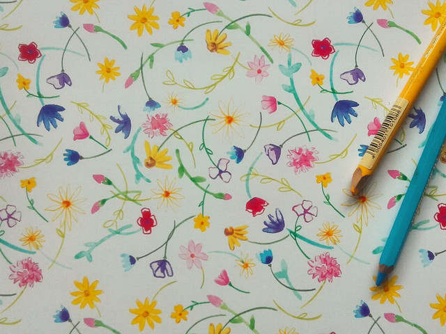 Floral Repeat Pattern Design