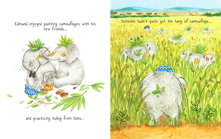 Elephant children's book character and illustration by Jenny Daymond Design and illustration