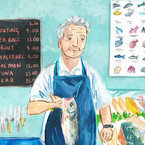 Fishmonger Portrait, Food Editorial