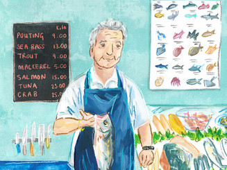 Fishmonger Portrait