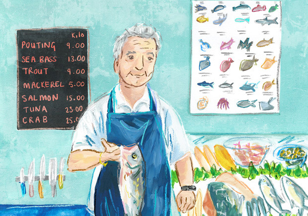Fishmonger Portrait
