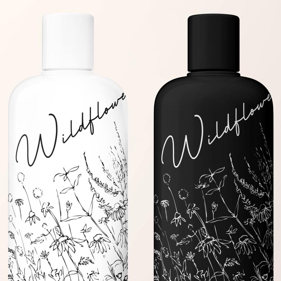Wildflower Shampoo Packaging