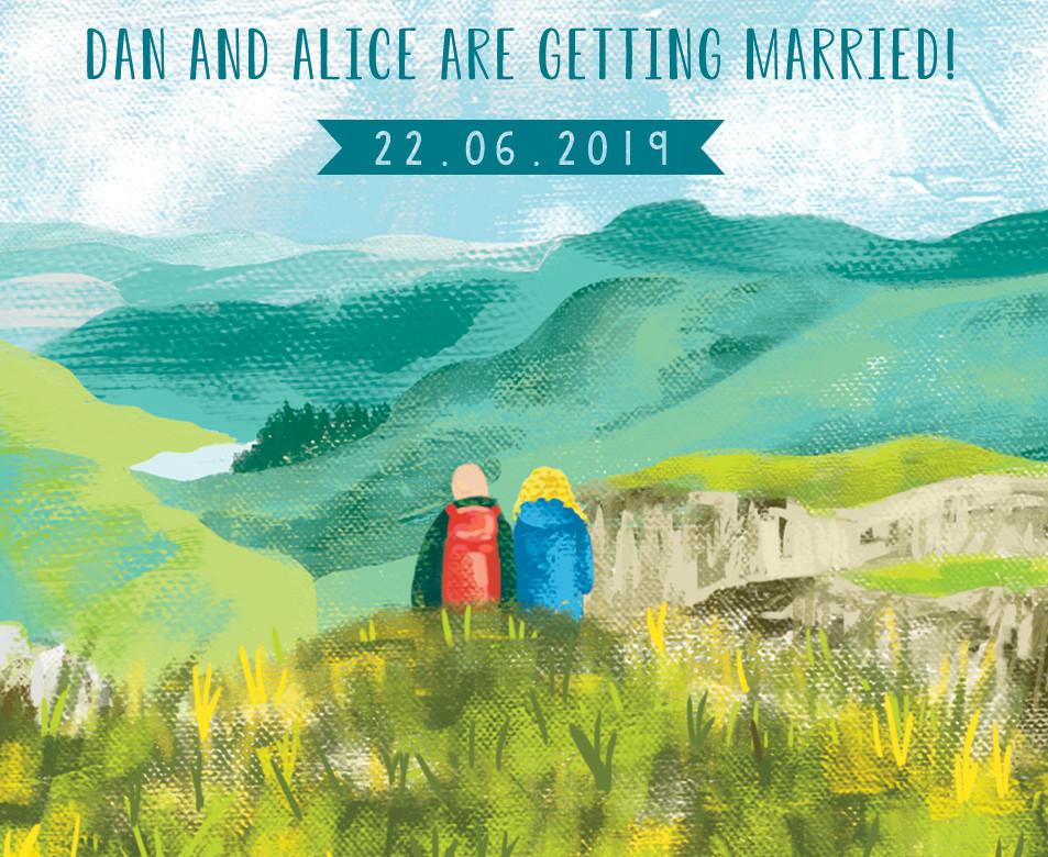 Bespoke Illustrated Wedding Invites