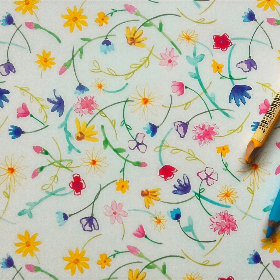 Wildflower Meadow Repeat Pattern Design