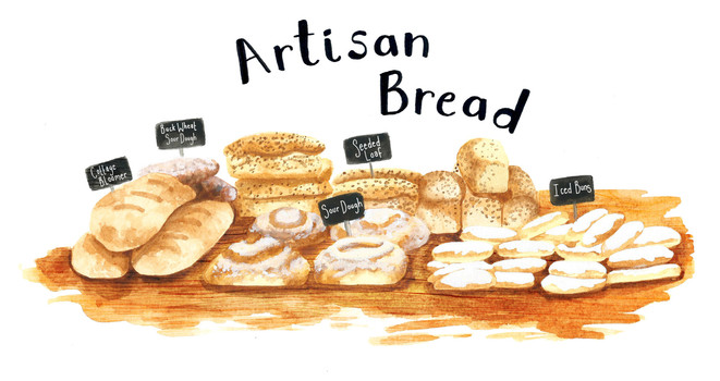 artisan bread RGG, Jenny Daymond Illustration, Daymond Design