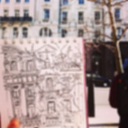 photo of me drawing, london line drawing near st Pauls.jpg