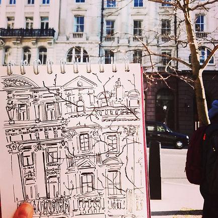 photo of me drawing, london line drawing near st Pauls.jpg