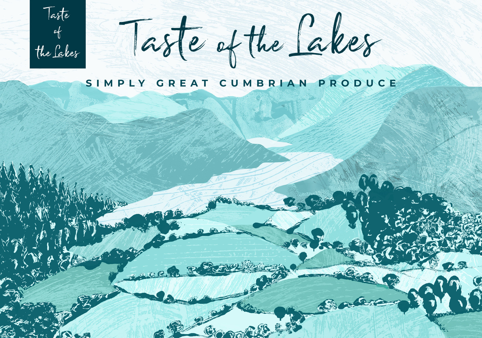illustrated web banner and branding, lake district branding cumbria design, Jenny Daymond Design and Illustration