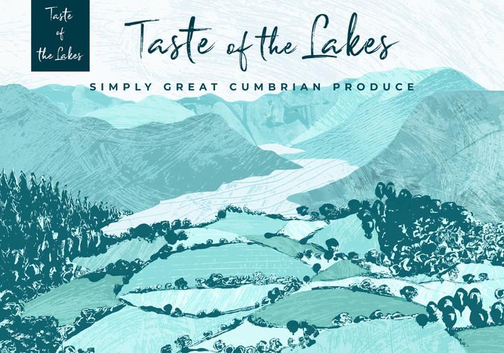illustrated web banner and branding, lake district branding cumbria design, Jenny Daymond Design and Illustration