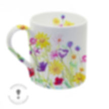 mug wildflower meadow homeware design illustration available to licence, Jenny Daymond Deign and Illustration