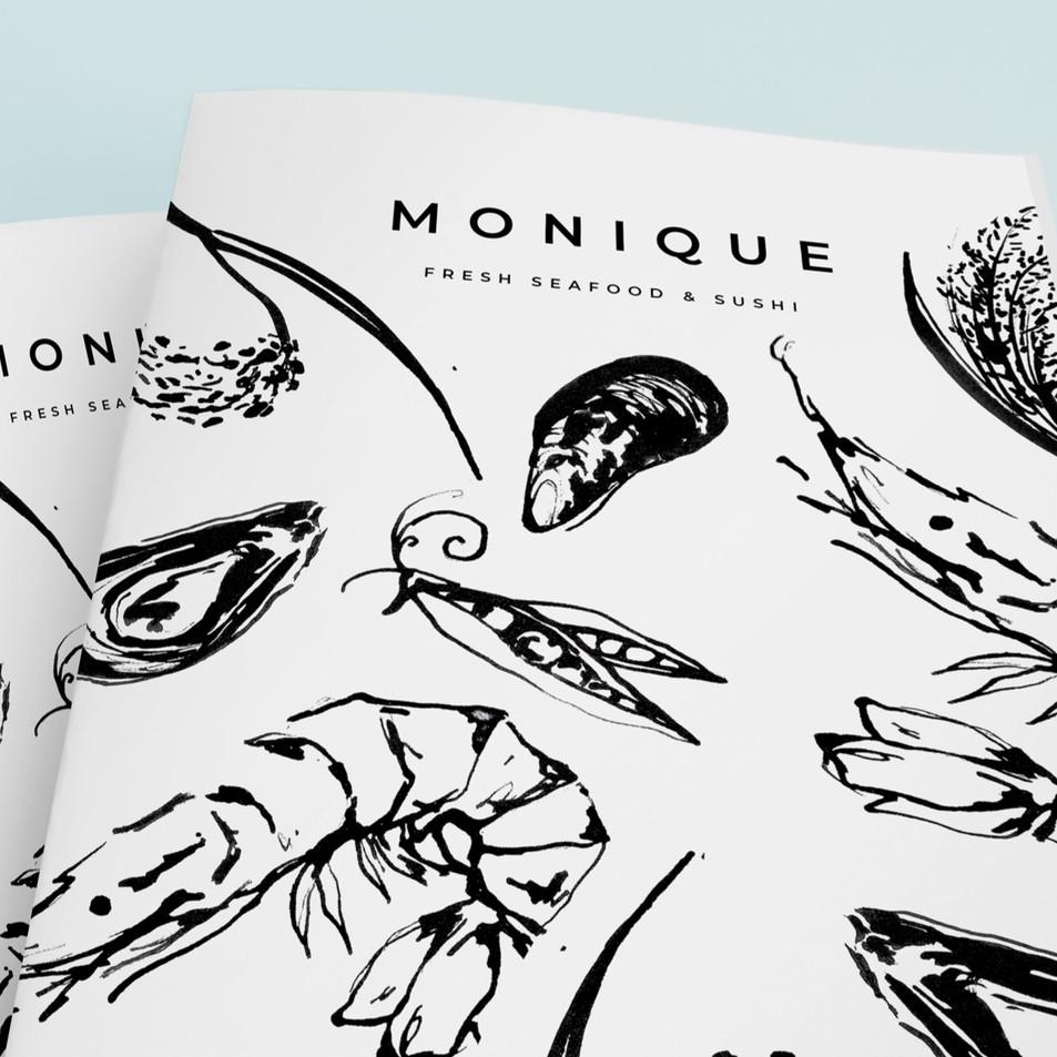 Brush Ink Food Illustration & Menu Design