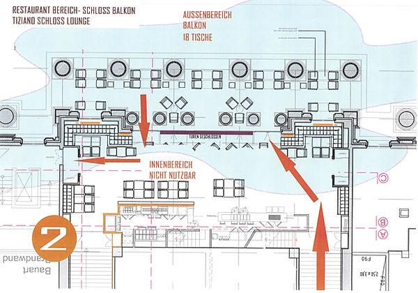 Corona Modellprojekt Braunschweig - Schloss Arkaden Terrasse Sitzplan EISCAFE TIZIANO