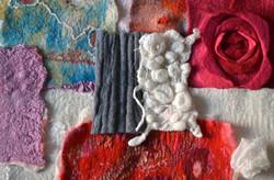 Texture 3D laine feutrée