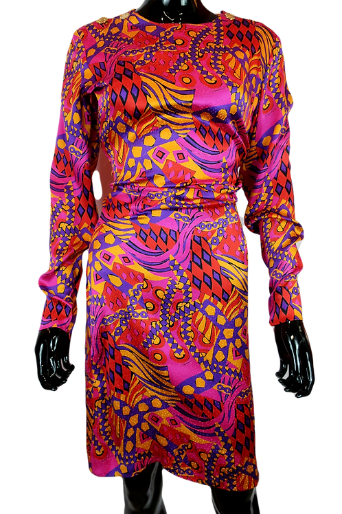 Yves Saint Laurent Print Rive Gauche Dress