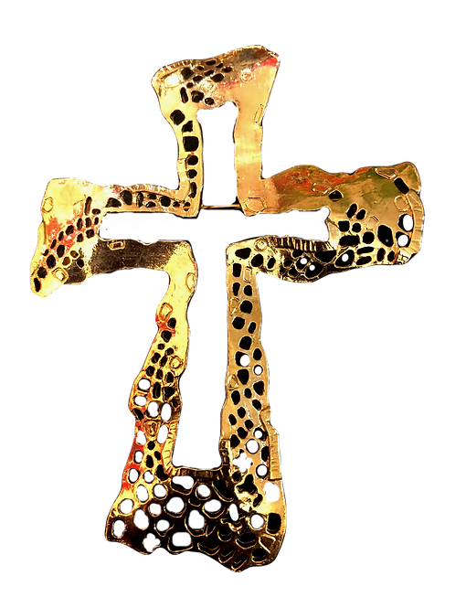 Christian Lacroix Cross Brooch
