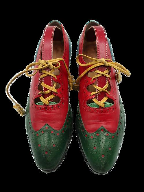 Hermès Multicolor Ghillie Shoes