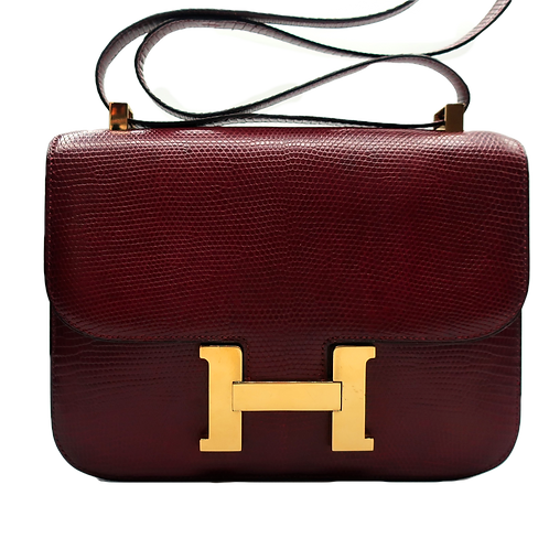 Hermès Constance Lizard Leather Bag