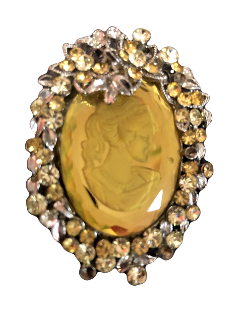 Christian Lacroix Cameo Brooch