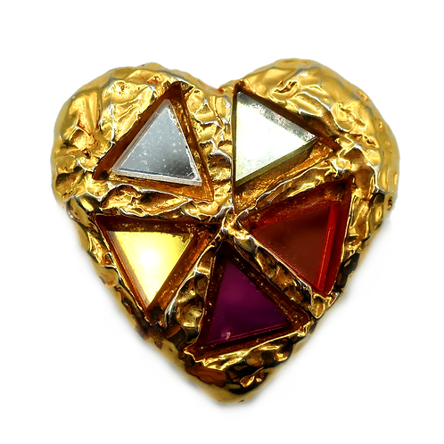 Christian Lacroix Mirror Heart Brooch