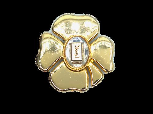 YSL Four-leaf Clover Brooch