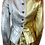Thumbnail: Yves Saint Laurent Silver & Gold Leather Jacket