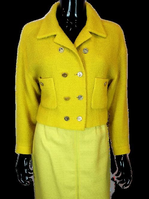 Chanel 1990's Yellow Jacket