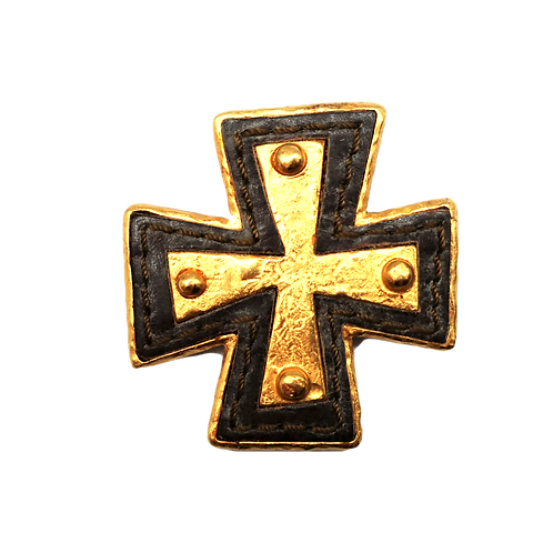 Christian Lacroix Cross Brooch