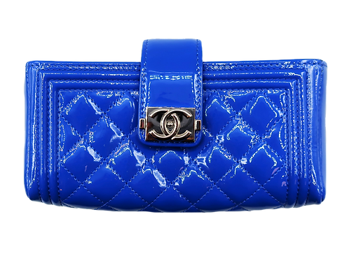 Chanel Blue Patent Leather Wallet