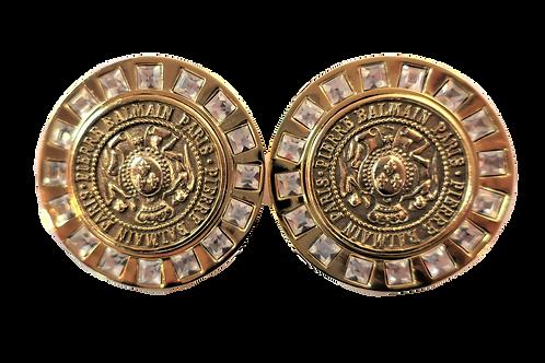 Pierre Balmain Medallion Earrings