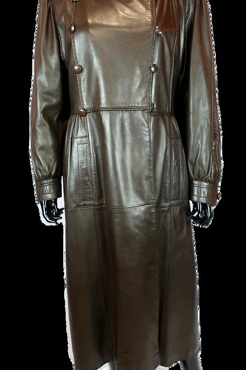 Yves Saint Laurent Leather Coat