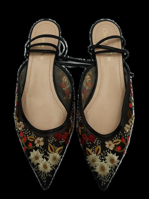 Dior Floral Flat Shoes