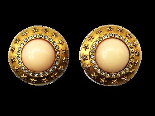 Chanel Pearl & Strass Earrings