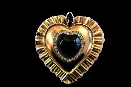 Versace Heart Brooch