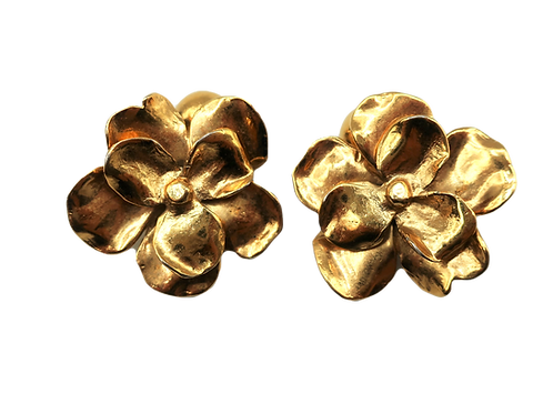 YSL Flower Cuff Links