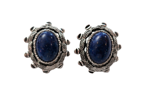 Dior Lapis Lazuli Silver Earrings