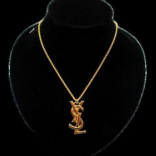 YSL Logo Necklace