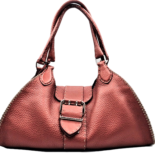 Fendi Tuscan Red Selleria Handbag